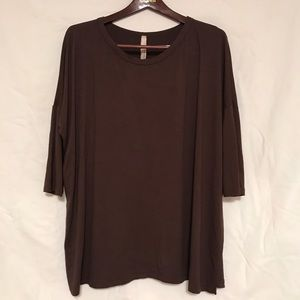 Brown jersey tee